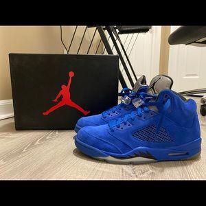 Air Jordan 5's Blue Suede